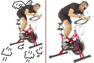 Aerobiking: expectation and reality.